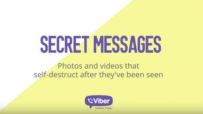 Самоуничтожающиеся сообщения Viber